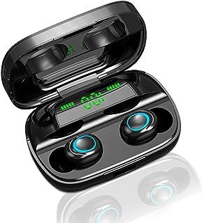 Fones de ouvido Bluetooth, verdadeiros fones de ouvido sem fio Fones de ouvido IPX7 à prova d'água Bluetooth 5.0 65 horas ...