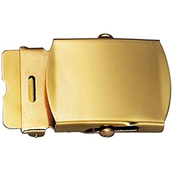kokungkuan Single Prong Center Bar Solid Brass Belt Buckle1.6 40mmFor 1.5 38mm Belt Golden