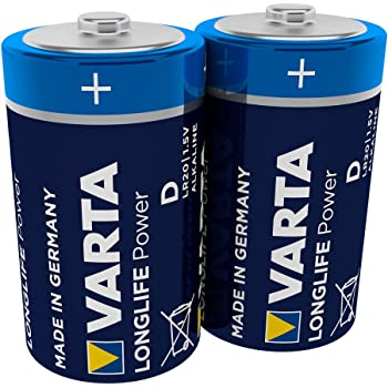 Varta 4920 Pack de 2 Pilas alcalinas, tamaño D, 1.5 V, Azul, Pack ...