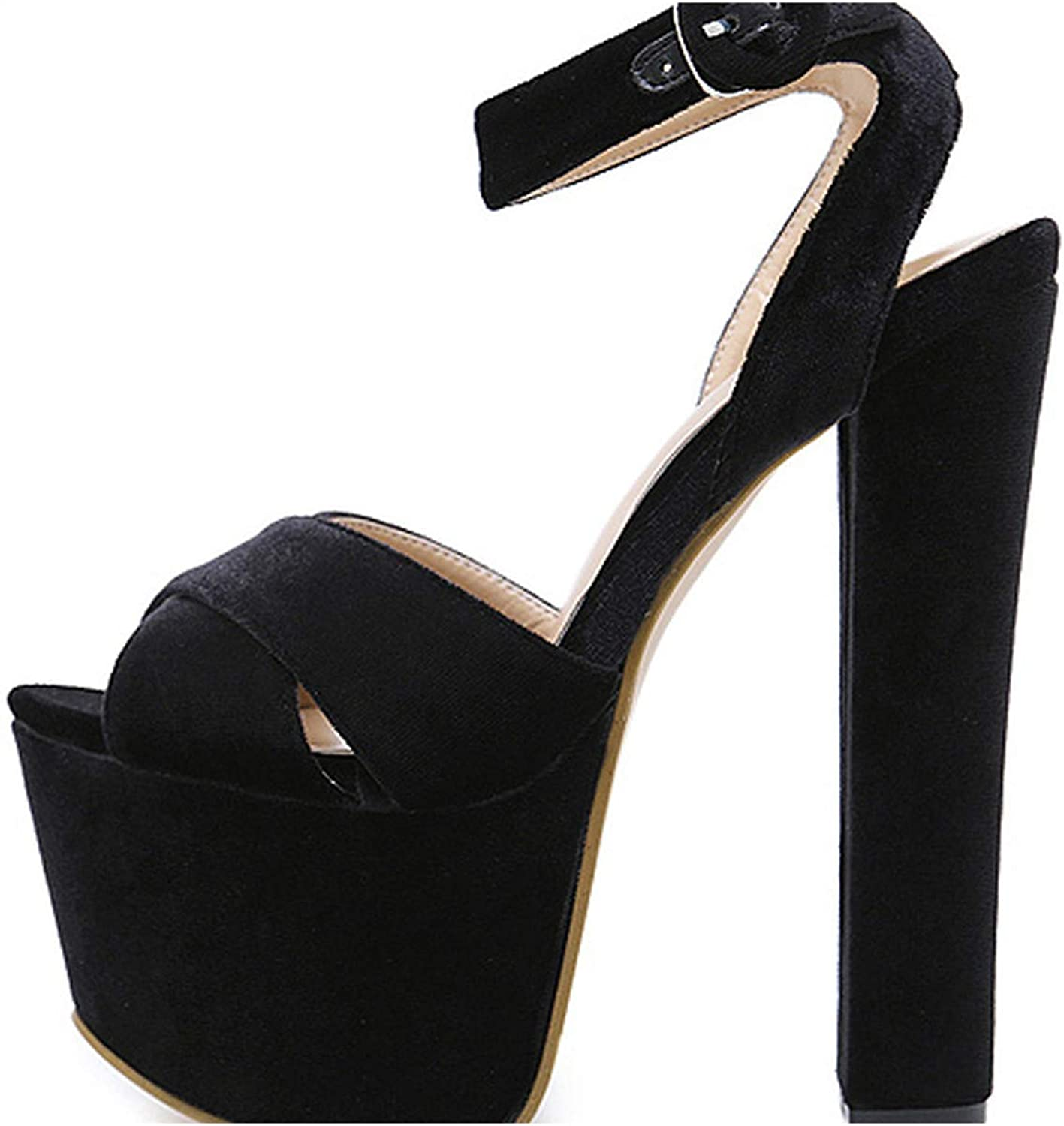 Liliduo Woman Sandals Party String Square Heel shoes Summer Sexy Woman shoes