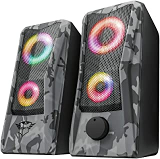 Trust GXT 606 Javv Set di altoparlanti 2.0 illuminato RGB per PC, 12 Watt, Grigio