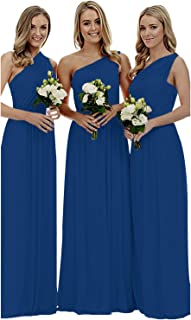 Staypretty Women's Bridesmaid Dress for Long One Shoulder Formal Aline Prom Evening