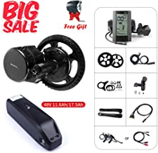 BAFANG BBS01B 48V 350W Mid Motor Drive System Kits Electric Bike Conversion Kit Ebike Accessories, Optional 48V 11.6Ah/17.5Ah Battery with Charger
