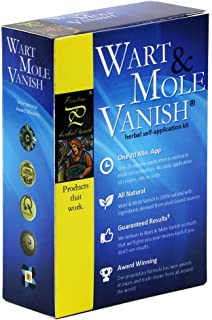 Pristine Herbal Touch - Wart & Mole Vanish, All Natural Mole & Skin Tag Remover (Fast Results, 20 Minute Application) Award Winning, Best Mole Remover, Best Wart Remover, Fast & Effective, All Natural