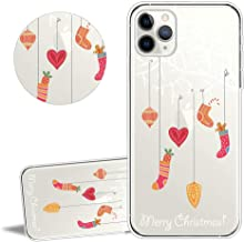 YiCTe Christmas TPU Case for iPhone 11 6.1'', Merry Pattern Landscape Cartoon Animal Character Design Clear Soft Silicone Shockproof Back Protective Cover,White Tree Gift