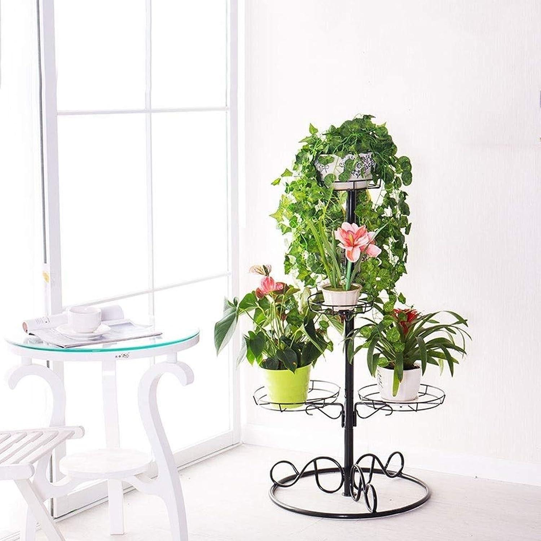 Flower Stand-Retro Metal Multi-Layer Floor Flower Pot Plant Display Rack Storage Rack, Living Room Balcony Flower Shop Shelf Rack 53  150cm, 53  96cm (Size   53  96cm)