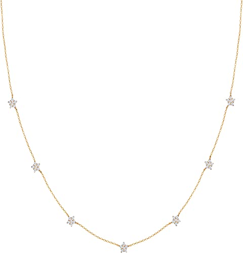 925 Sterling Silver Golden Star Constellation Necklace Necklace for Women Girls With Certificate of Authenticity and 925 Hallmark