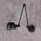 LLLKKK Lámpara de pared de hierro, proceso de pintura mate en...