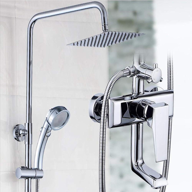Thermostat-Duschset Multifunktions-DREI-Gang-Rack-Spritzpistole Bidet Bad Kupfer Wasserhahn Duscharmatur