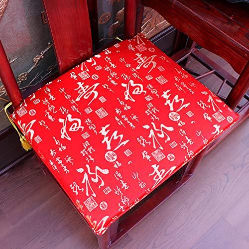 JRG Chino Caoba Almohadillas para Sillas Muebles Protector Cubierta Cubre Sofá Antideslizante Silla De Taishi Esponja Mat-o 40x46cm