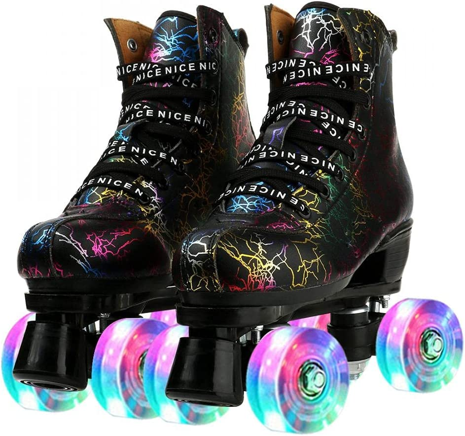 XUDREZ PU Leather Max 52% OFF Roller Skates for Men and Fla Max 44% OFF Double-Row Women