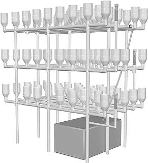 水耕栽培システム 潮汐式 中型水耕栽培器 育成システム 家庭用 ベランダ 庭 入水式 循環ポンプ付き日本語説明書付き(113穴)