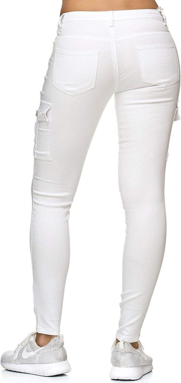 Pantalon Dame Treggings Stretch Cargo Skinny Jeans