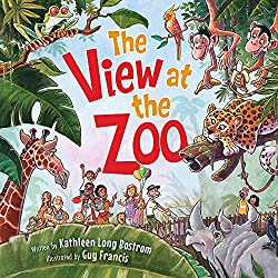 Image: The View at the Zoo | Board book – Lift the flap: 26 pages | by Kathleen Long Bostrom (Author), Guy Francis (Illustrator). Publisher: WorthyKids; Illustrated edition (April 30, 2019)