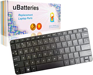 UBatteries Compatible Laptop Keyboard Replacement for HP Mini 210-2000 210-3000 110-4200 CQ10-610 LKB-HC26B - Black