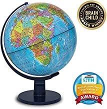 """Waypoint Geographic Light Up Globe for Kids - Scout 12"""" Desk Classroom Decorative Illuminated Globe with Stand, More Than 4000 Names, Places - Current World Globe"""