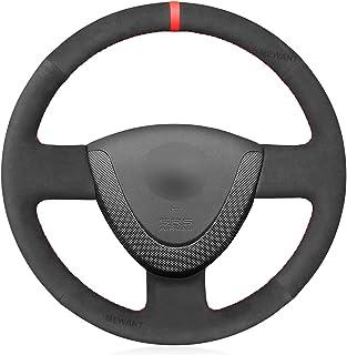 MEWANT Fundas para volante de coche personalizadas de ante cosido a mano para Honda Civic 2002-2005/Jazz 2001-2005