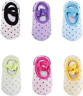 Bebé 6 Pares Calcetín Antideslizante para 8 - 36 Meses Bebés y Niños Pequeños, Calcetín para Niños