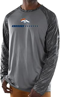 Majestic Denver Broncos NFL Rivalry Men's Performance L/S Gray Shirt