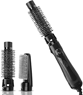 Upgrade One Step Hair Dryer Styler and Volumizer,Lightweight 3 in 1 Ionic Hot Air Brush with 2 Styling Attachments, Blow Dryer Brush, Hair Curler,Straightener and Styler for All Hair Types