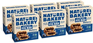 Nature's Bakery Gluten Free Fig Bars, Blueberry, 6- 6 Count Boxes of 2oz Twin Packs  (36 Packs), Vegan Snacks, Non-GMO