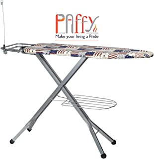 Paffy Folding Ironing Board With Multi-Function Tray/Wire Manager & Aluminised Ironing Surface (143 x 39 x 10 cm)(White)