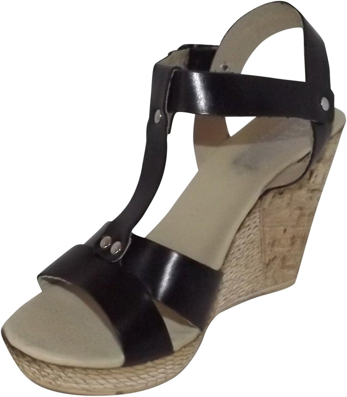 Mopiel 100% Genuine Leather Women Dress Sandals Black