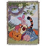 Disney's Winnie the Pooh, 'All My Friends' Woven Tapestry Throw Blanket, 48' x 60', Multi Color