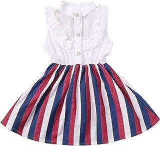 Vestido de Niña Pequeña para Bebés Ropa Informal Vestido