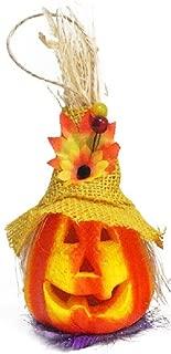 Daycount LED Pumpkin Lights Flash Performance Prop Halloween Bar Decor Scarecrow Ornaments Pumpkin Lantern Party DIY Decoration (Yellow)