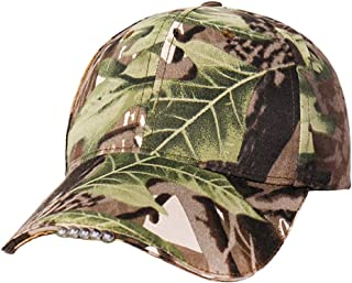 Flyme Caps with led Lights Hip hop hat Autumn Winter Fishing hat Outdoors Baseball Cap (Camouflage)