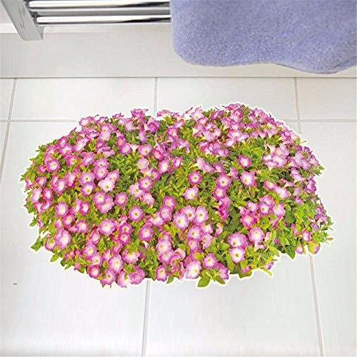 Bomeautify Pegatinas de pared Etiqueta la Dormitorio pegatinas de suelo a prueba de agua wearable sala de estar creativa tienda piso decoración flores pegatinas tridimensionales planas, 60 * 90 CM