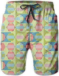 8402e80e4e FAVIBES Boardshorts en Dentelle À Séchage Rapide sans Couture Géométrique  sans Couture De Plage Shorts Pantalons