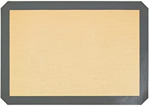 N/R 16.5 * 11.6 Pulgadas Estera para Hornear de Silicona de Fibra de Vidrio Resistente a Altas temperaturas, marrón Claro