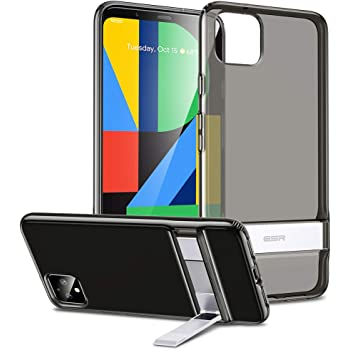 ESR Metal Kickstand Case Compatible with The Pixel 4 XL, [Vertical and Horizontal Stand] [Reinforced Drop Protection] Flexible TPU Soft Back for The Google Pixel 4 XL(2019), Clear Black