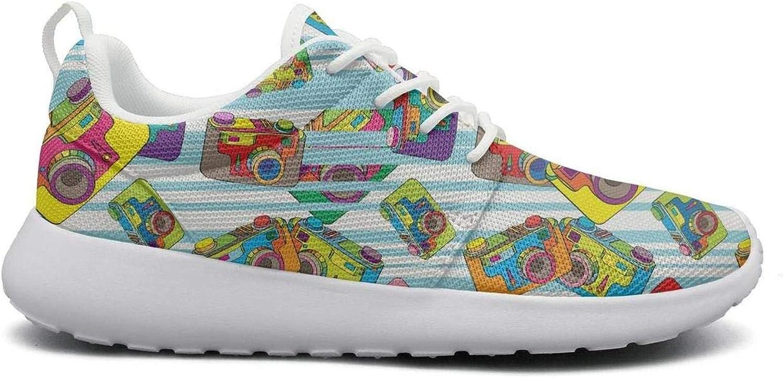 Ipdterty Wear-Resistant Outdoor Sneaker Strange Camera Womens Ladies Fashion Running shoes