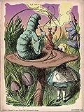 onthewall Alice im Wunderland die Raupe Vintage Art Print