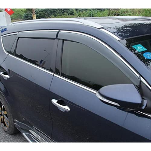 Vesul Updated Side Window Visor Rain Sun Deflectors Guard Vent Shade Fits on Hyundai Santa Fe
