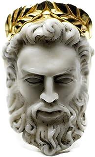 Ganghuo Bague entièrement fabriquée à la main Zeus en forme de tête pour homme et femme - Bijou vintage - Unitaire moderne...