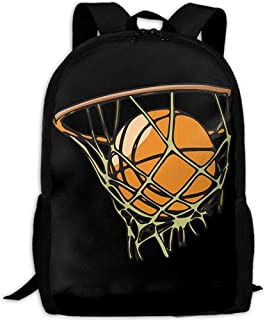 Daypack Dibujos Animados Baloncesto Imprimir Mochila Personalizada Viaje Casual Mochila Escolar Multiuso Mochila Adulto