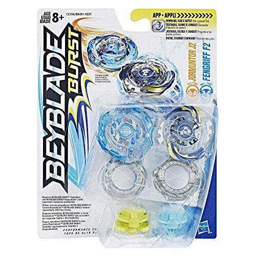Hasbro Beyblade Burst - Dual Pack - Jormuntor J2 e Fengriff F2 (Inviato da UK)