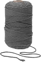 TOPWA Macrame Cord Natual Macrame Katoen Cord DIY Craft Cord Spool Twine Rustieke String Katoen Touw voor Muur Opknoping, ...