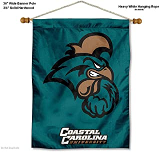 College Flags and Banners Co. Coastal Carolina Chanticleers Banner with Hanging Pole