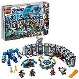 LEGO Marvel Avengers Iron Man Hall of Armor 76125 Building Kit Marvel Tony Stark Iron Man Suit Action Figures (524 Pieces)