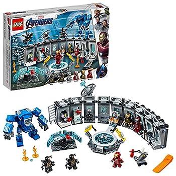 LEGO Marvel Avengers Iron Man Hall of Armor 76125 Building Kit Marvel Tony Stark Iron Man Suit Action Figures  524 Pieces