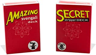Magic Makers Amazing Svengali and Secret Stripper Deck Kit, Hundreds of Possible Tricks from Beginner to Expert in This Se...