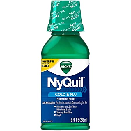Vicks NyQuil Cold & Flu Nighttime Relief Liquid - 8 oz, Pack of 2