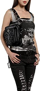 Waist Bag Female Bag Steampunk Multi-Function Shoulder Slung Black Pocket Outdoor Multi-Function Tactical Pocket Male
