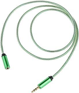 3,5 mm Alargador para Auriculares Cable de Extensión de Audio Estéreo Macho a Hembra 1M Largo - Verde