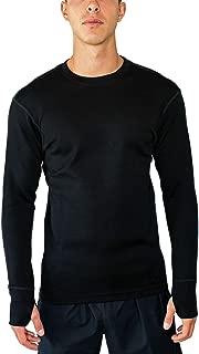 WoolX Glacier - Men's Merino Wool Base Layer Top - Heavyweight Baselayer Crew Shirt for Extreme Warmth